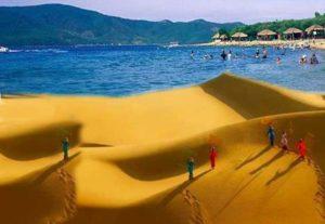 Пески на пляже Вьетнама
