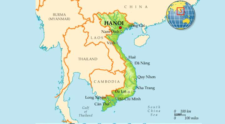 Территорию Вьетнама можно условно разделить на 3 региона
